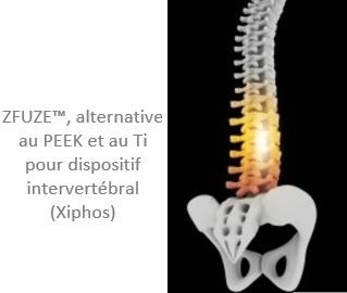 ZFUZE™, alternative au PEEK et au Ti pour dispositif intervertébral (Xiphos)