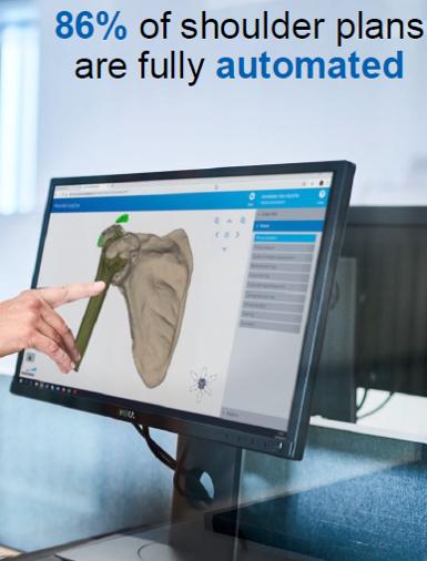 Planification basée sur l'IA : 86% des planifications d'opérations sur épaules sont entièrement automatisées (Materialise)