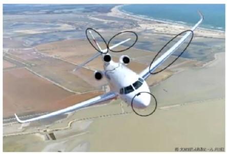 Zones sensibles à l'érosion sur un aéronef