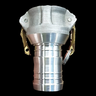 Raccord Camlock de compresseur fabriqué en alliage d'aluminium par Cold Spray Additive Manufacturing